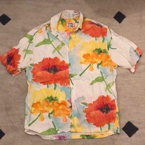 Short Sleeve Vintage Floral Shirt jams world